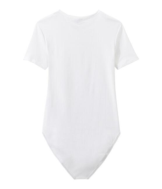 Body icónico de algodón para mujer blanco Ecume