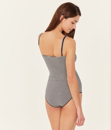 Body sin mangas de punto extrafino para mujer