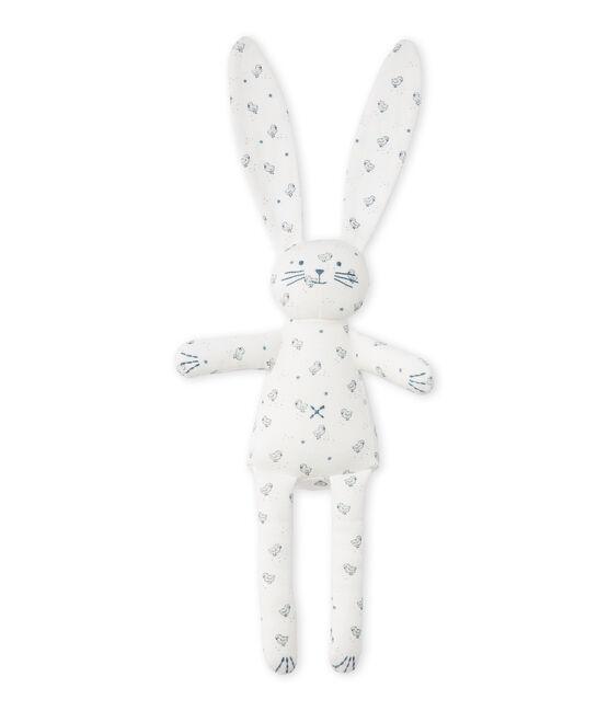 Doudou lapin bébé mixte imprimé blanco Lait / blanco Multico