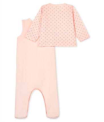Conjunto para bebé de dos piezas de punto rosa Fleur / rosa Geisha