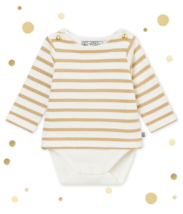 Body marinero brillante para bebé niña