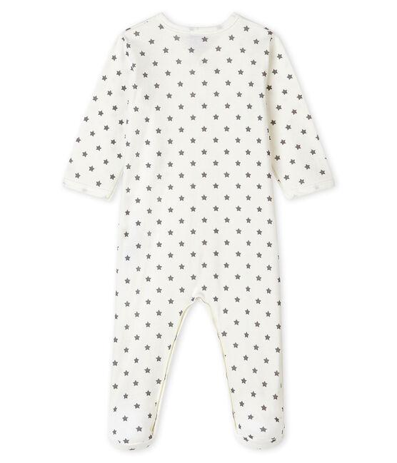 Pelele de canalé con estrellas para bebé blanco Marshmallow / gris Gris