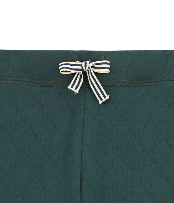 Pantalón para niño en túbico acolchado verde Sherwood