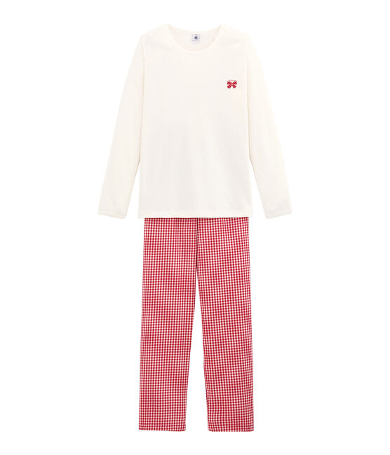 Pijama para niña rojo Terkuit / blanco Marshmallow