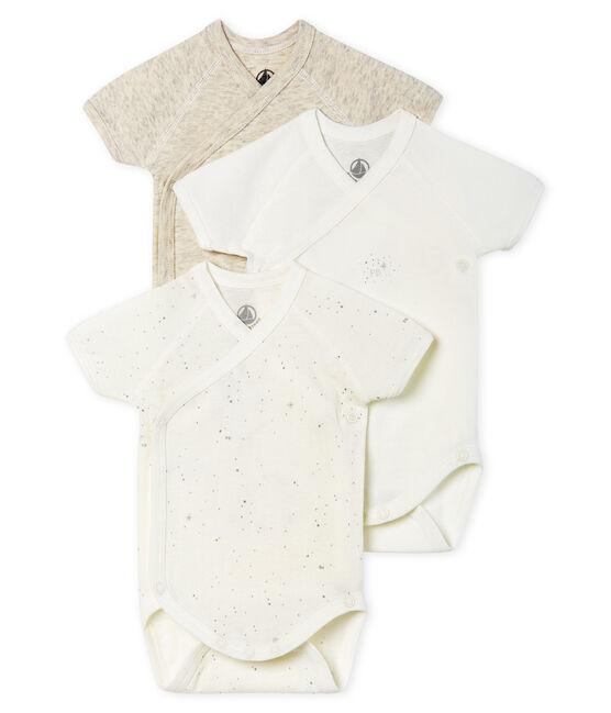 Tres bodis de nacimiento de manga corta para bebé lote .