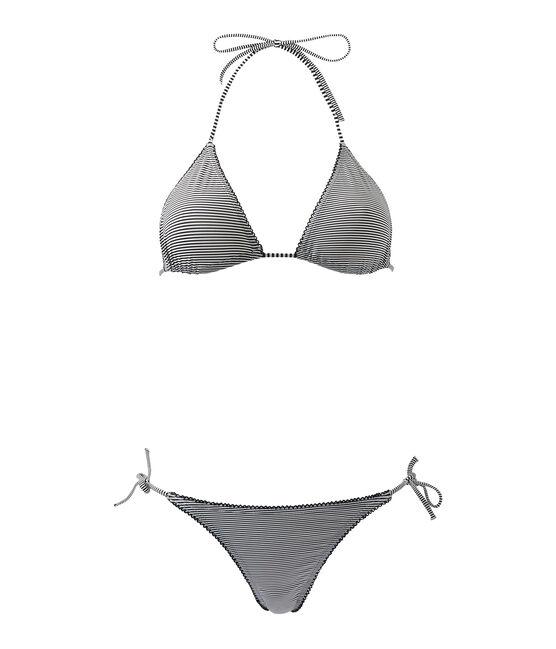 Bikini milrayas para mujer azul Abysse / blanco Lait