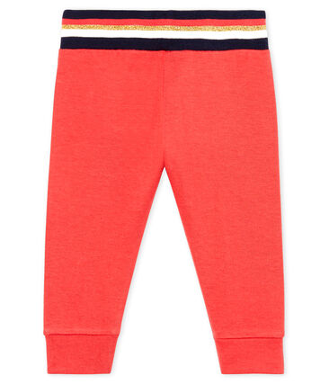 Pantalón de tela túbica para bebé niña rojo Signal