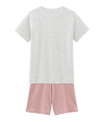 Pijama corto de punto para niño gris Beluga / blanco Multico