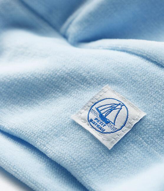 Gorro de recién nacido de terciopelo azul Toudou