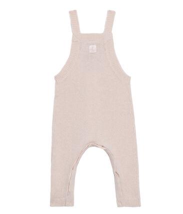 Peto largo para bebé niño de punto de lana, nylon y alpaca. rosa Fleur