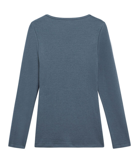 Camiseta de manga larga para mujer azul Turquin