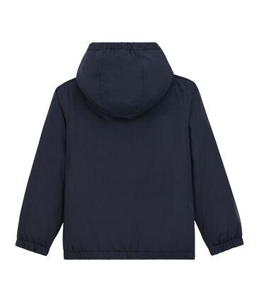 Cortavientos cálido y reversible infantil unisex azul Smoking