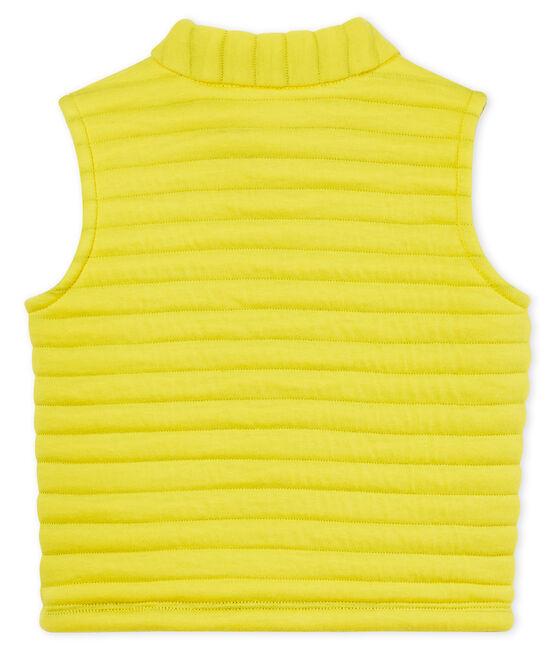 Chaleco de tela túbica acolchada para bebé niño amarillo Shine