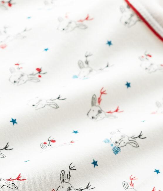 Camiseta de manga larga con estampado blanco Lait / blanco Multico