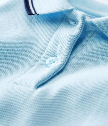 Vestido de manga corta para bebé niña azul Bocal