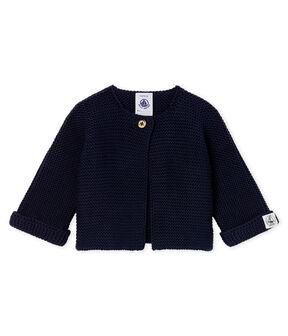 Cárdigan para bebé de punto 100 % algodón azul Smoking