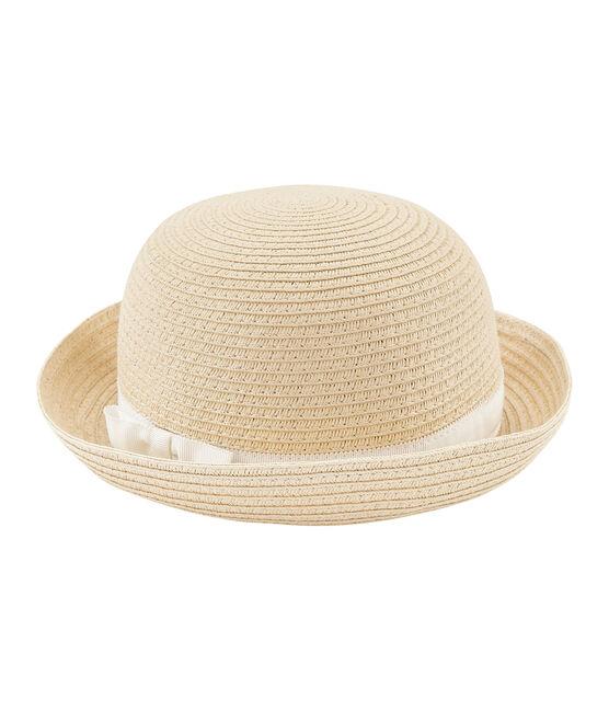 Sombrero de paja niña rosa Naturel