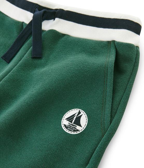 Bermudas de muletón para niño verde Sousbois