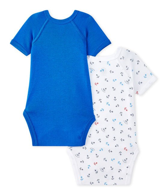 Lote de 2 bodies de primera puesta de manga corta para bebé niño lote .