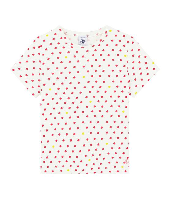 Camiseta de manga corta para niña blanco Marshmallow / blanco Multico