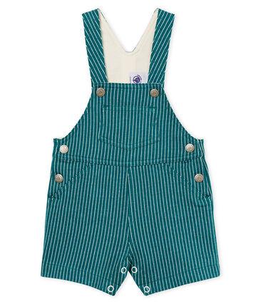 00f785f23 Peto corto de tela de rayas para bebé niño