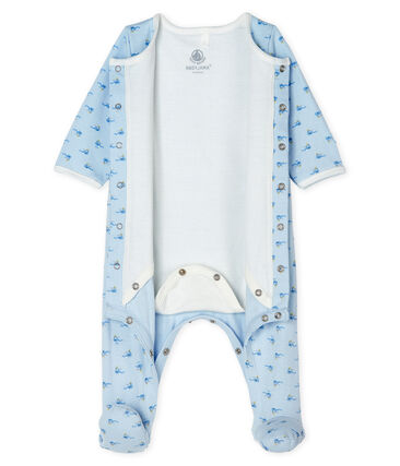 Bodyjama de tela túbica para niño azul Fraicheur / blanco Multico