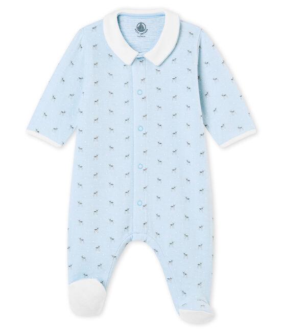 Pijama para bebé en túbico estampado azul Fraicheur / blanco Multico