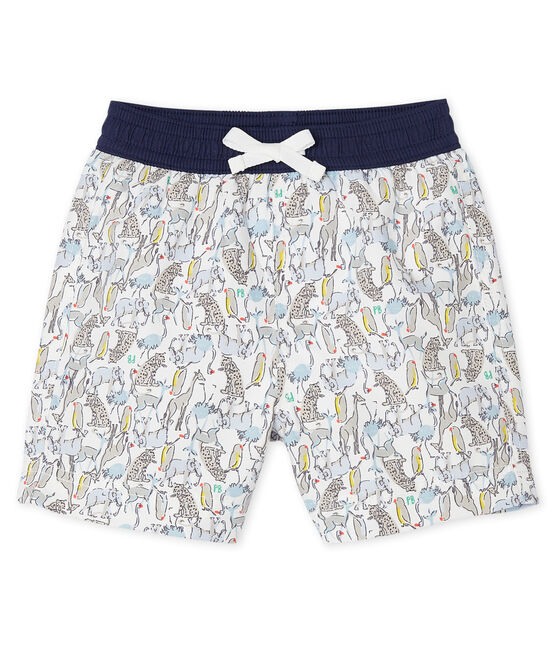 Pantalón corto de playa estampado para bebé niño blanco Marshmallow / blanco Multico