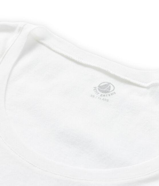 Camiseta de algodón ligero para mujer blanco Lait