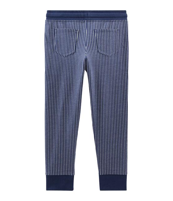 Pantalón de malla para niño azul Smoking / blanco Marshmallow