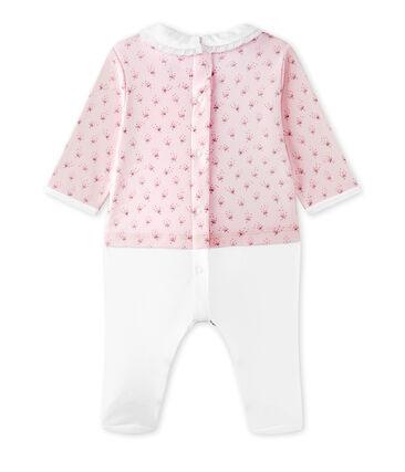 Pelele blusa bi-materia bebé niña
