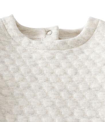 Vestido bebé niña de 2 en 1 en túbico acolchado gris Montelimar Chine