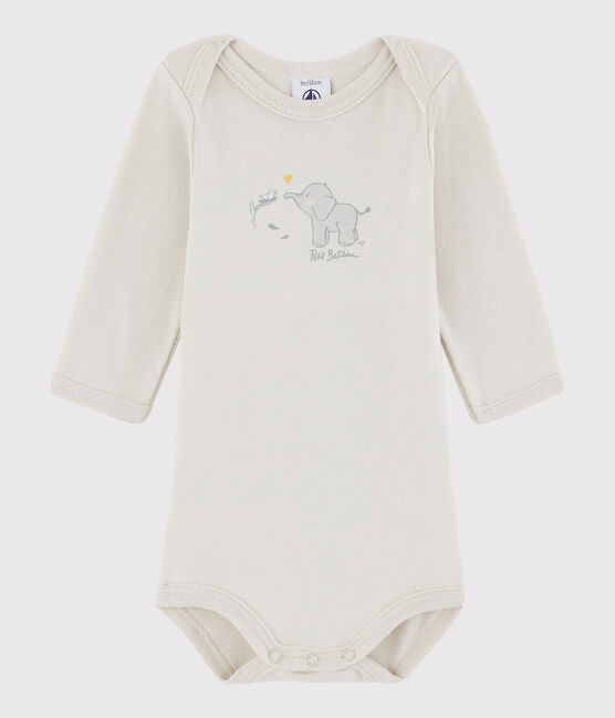 Bodi de manga larga de bebé niña/niño gris Neutre