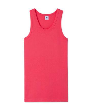 Camiseta sin mangas para mujer en punto original rosa Geisha