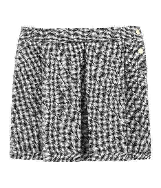 Falda para niña gris Capecod / blanco Marshmallow