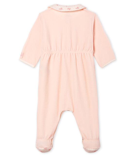Pijama de terciopelo para bebé niña FLEUR