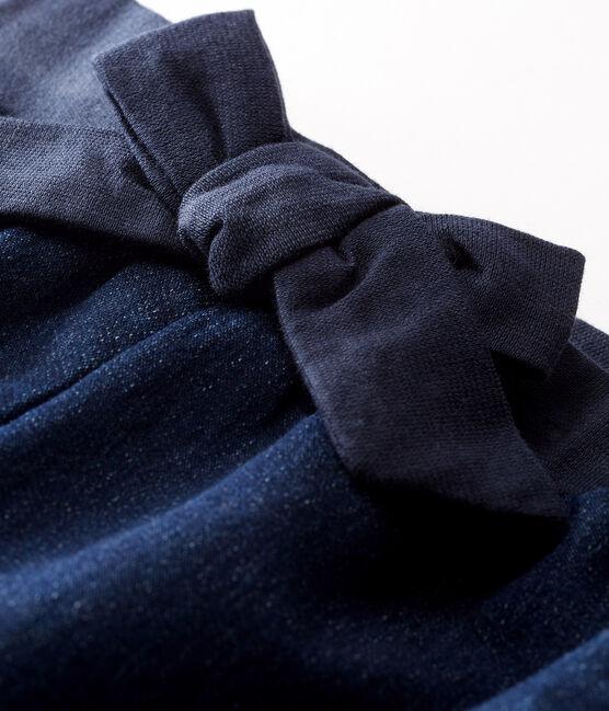 Pantalón de tela efecto vaquero para bebé niña azul Jean