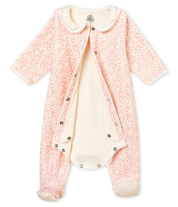 Bodypijama para bebé niña de terciopelo de algodón estampado