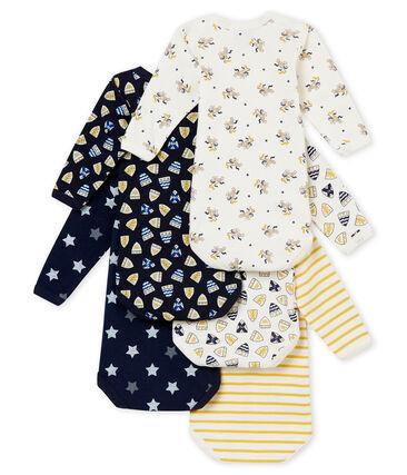 Lote de 5 bodis de manga larga para bebé niño