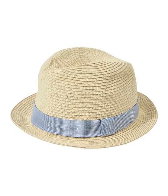 Sombrero de paja para peque mixto rosa Naturel