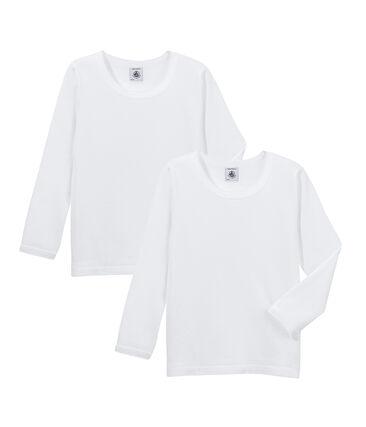 Par de camisetas manga larga para niña lote .