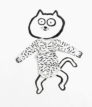 Trío de bodis de manga larga para bebé Jean Jullien lote .