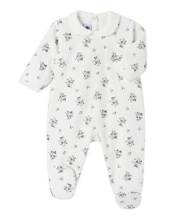 Pijama estampado para bebé niña blanco Lait / blanco Multico