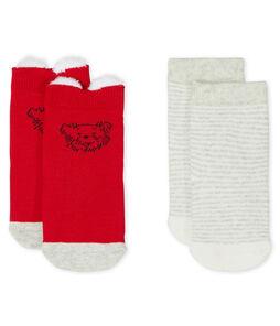 Lote de 2 pares de calcetines para bebé unisex