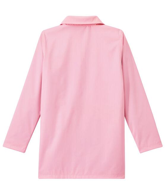 Chubasquero con forma de abrigo para mujer rosa Babylone