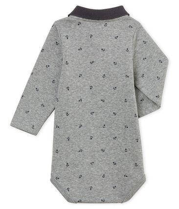 Body con cuello polo estampado para bebé niño