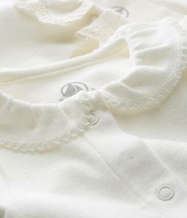 Lote de 2 bodis manga larga con cuello para bebé niña