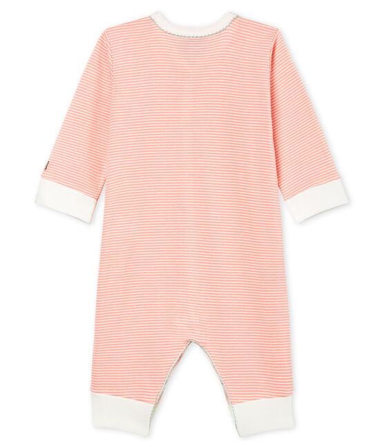 Pelele de punto para bebé niña rosa Rosako / blanco Marshmallow