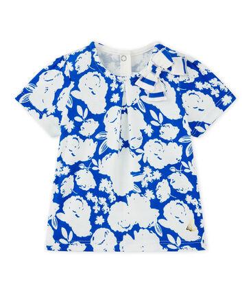 Camiseta bebé niña estampado blanco Marshmallow / blanco Multico
