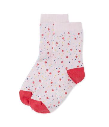 Calcetines floreados para niña